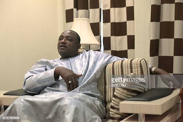 Gambian presidentelect Adama Barrow speaks during an interview in Banjul on December 12 2016 Adama Barrow said on December 12 that longtime leader...
