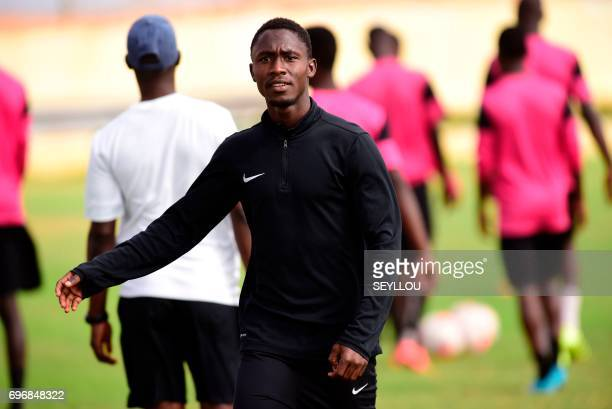 Gambia's midfielder Ablie Jallow attends a training session at the Generation Foot Academie on June 14 2017 in Deni Biram Ndao eastern Dakar...