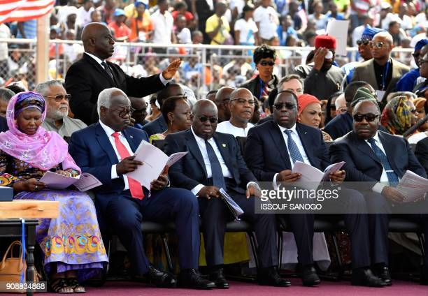 Gambia's VicePresident Fatoumata Tambajang Ghana's former president John Jerry Rawlings Sierra Leone President Ernest Bai Koromah President of Ghana...