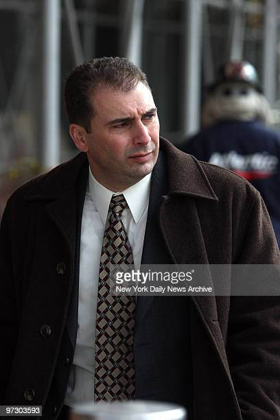 Gambino crime family members make bail and exit Brooklyn Federal Courthouse Anthony Delvescovo of Schiavone Contsruction leaves courthouse