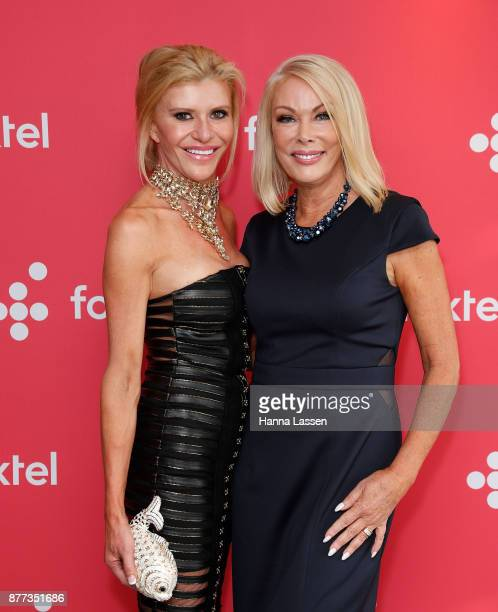 Gamble Breaux and Janet Roach arrive at a Real Housewives of Melbourne Season 4 Media Opportunity on November 22 2017 in Sydney Australia