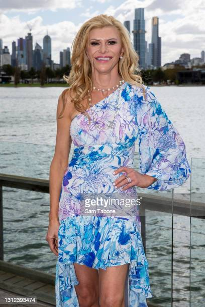 Gamble Breaux attends the cast announcement for The Real Housewives of Melbourne season 5 on April 14, 2021 in Melbourne, Australia.