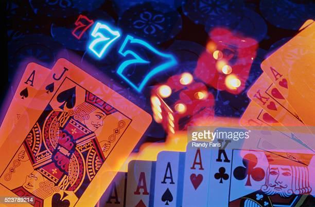 gambling icons - cassino - fotografias e filmes do acervo