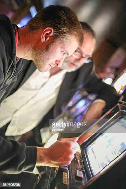gambling - coin operated stock photos and pictures