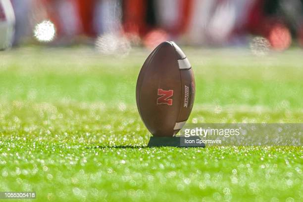 A gambol awaits on the field to be kicked off during the game between the BethuneCookman Wildcats and the Nebraska Cornhuskers on Saturday October 27...