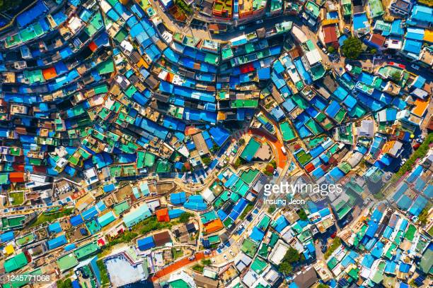 gamcheon culture village - multi coloured stock pictures, royalty-free photos & images
