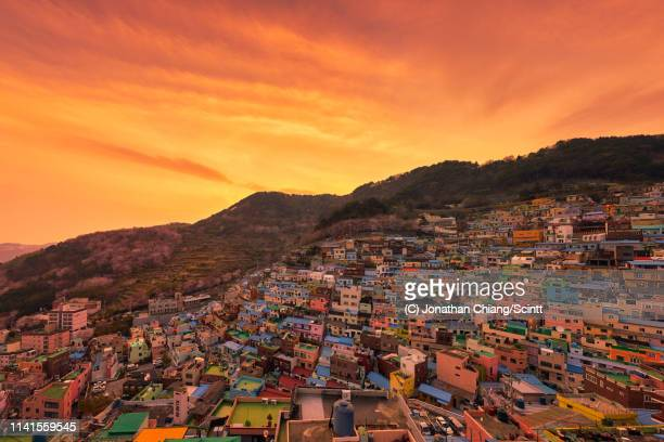 gamcheon glow - busan stock pictures, royalty-free photos & images