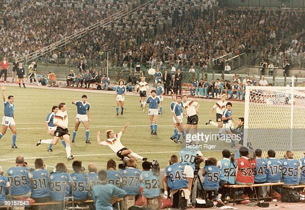 Game action during the 1990 FIFA World Cup Final between West Germany and Argentina at Stadio Olimpico on July 8 1990 in Rome Italy