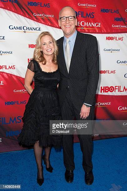 Game Change coauthor John Heilemann and wife Diana Rhoten attend the Game Change premiere at the Ziegfeld Theater on March 7 2012 in New York City
