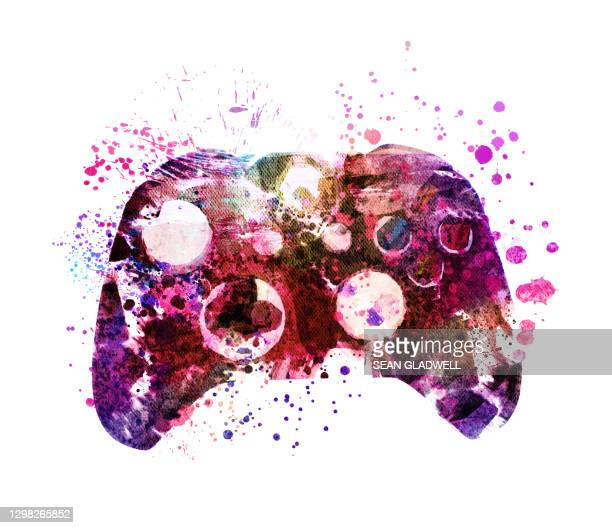 game controller illustration - control stock pictures, royalty-free photos & images