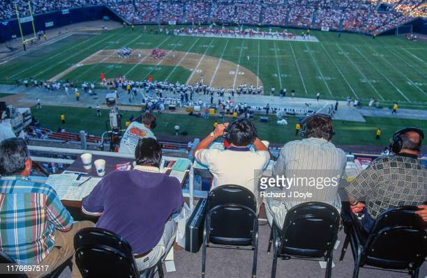 Game Day Media - Sports writers. San Francisco 49ers 17 vs San Diego Chargers 6 at Jack Murphy Stadium in San Diego, California.