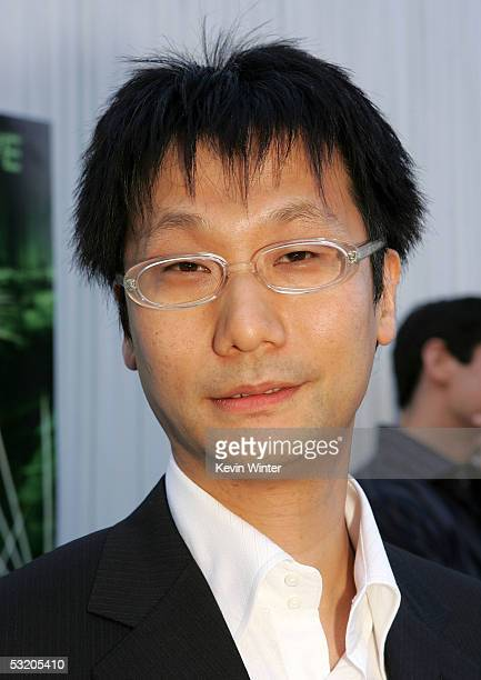 Game desinger of 'Metal Gear Solid' Hideo Kojima arrives at Video Games Live at the Hollywood Bowl on July 6 2005 in Hollywood California