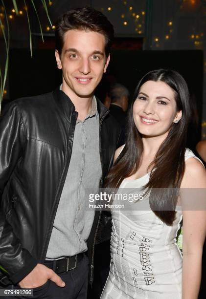 Game developer Nicola Geretti and actress Celeste Thorson attend the Beyond LA Cocktail Party Benefiting Beyond Type 1 at Avenue LA on May 5 2017 in...