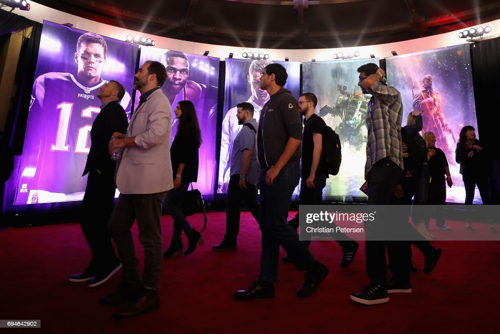 Game enthusiasts and industry personnel arrive to the Electronic Arts EA Play event at the Hollywood Palladium on June 10, 2017 in Los Angeles, California. The E3 Game Conference begins on Tuesday June 13.