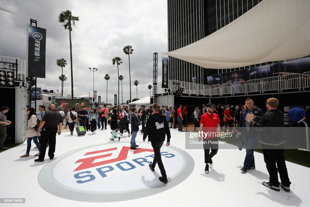 Game enthusiasts and industry personnel attend the Electronic Arts EA Play event at the Hollywood Palladium on June 10, 2017 in Los Angeles, California. The E3 Game Conference begins on Tuesday June 13.
