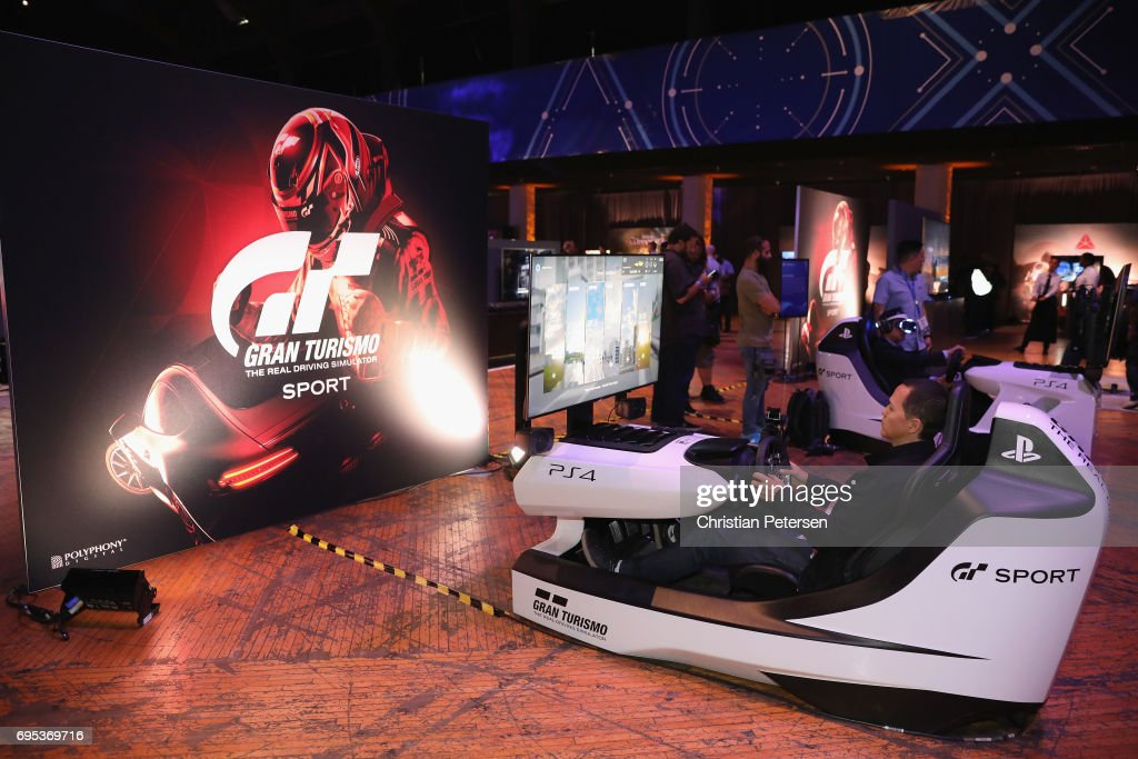 Game enthusiasts and industry personnel attend the Sony Playstation E3 showcase before the start of the conference at the Shrine Auditorium on June 12, 2017 in Los Angeles, California. The E3 Game Conference begins on Tuesday June 13.
