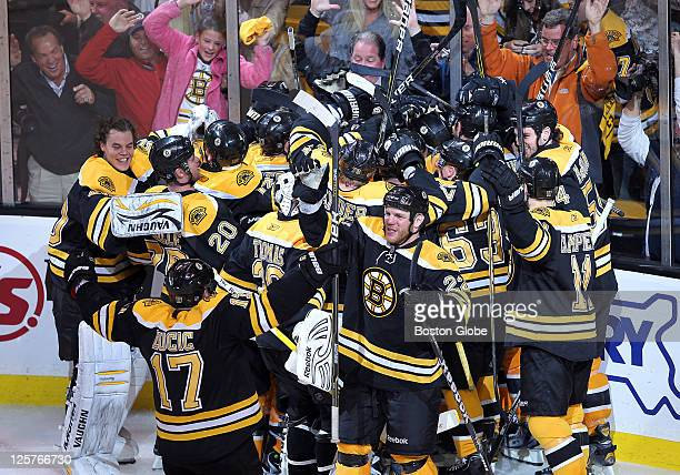 Game Five of the Eastern Conference quarterfinals, Bruins Nathan Horton scored the game winning goal as the Bruins celebrated their win in the 2nd...