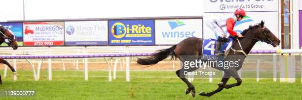 Game Has Changed ridden by Damien Thornton wins the Mitta Valley Beef Maiden Plate on April 24 2019 in Wangaratta Australia