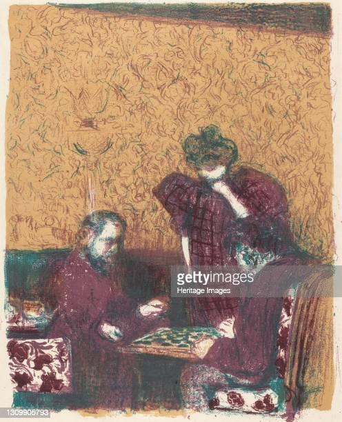 Game of Checkers , 1897/1898 . Artist Edouard Vuillard. .