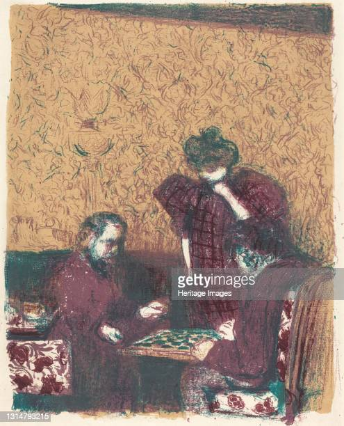 Game of Checkers , 1897/1898 . Artist Edouard Vuillard.