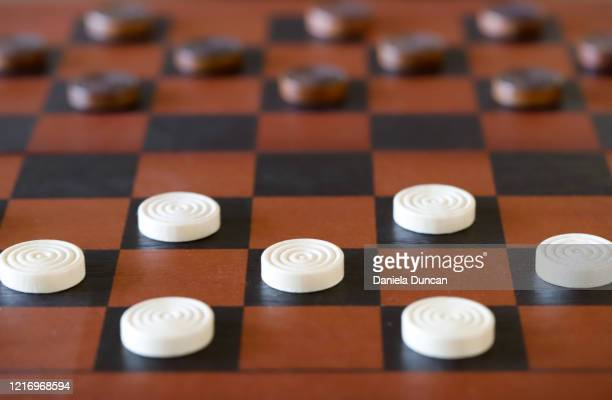game of checkers - chequers stock pictures, royalty-free photos & images