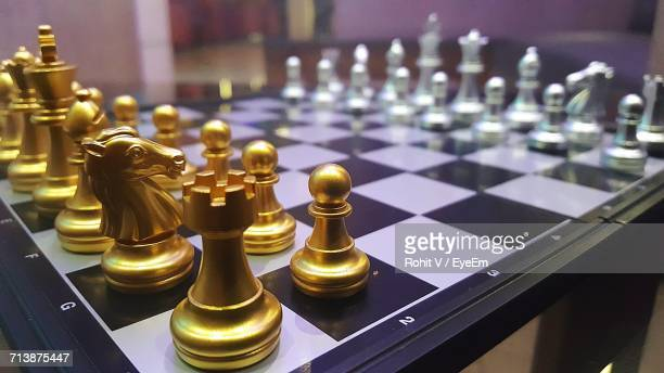 Game Of Chess On Table