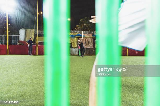 game of cricket - cricket bat stock pictures, royalty-free photos & images