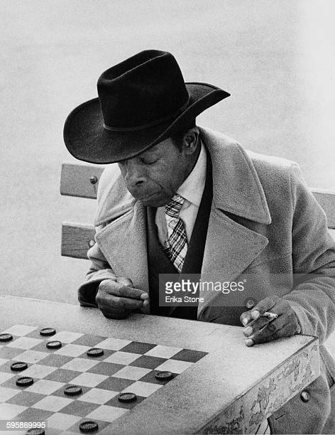 A game of draughts in Washington Square Park New York City circa 1960