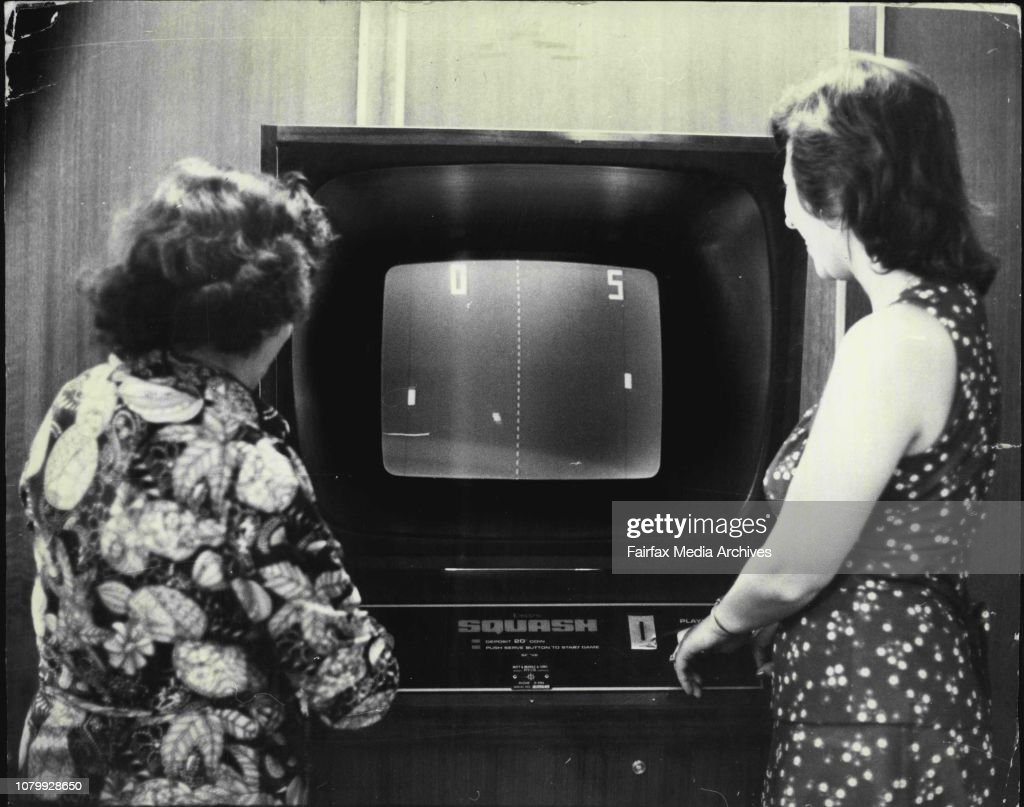 A game of Electro Squash being played by Una Goggins of Lidcombe Brenda Fenwick of Bronte at the Trade Union Club Surry Hills.Bleep-bleep...and a game of TV Squash is on in a City club. Soon you'll be able to adapt your own set to play fun games like this : News Photo