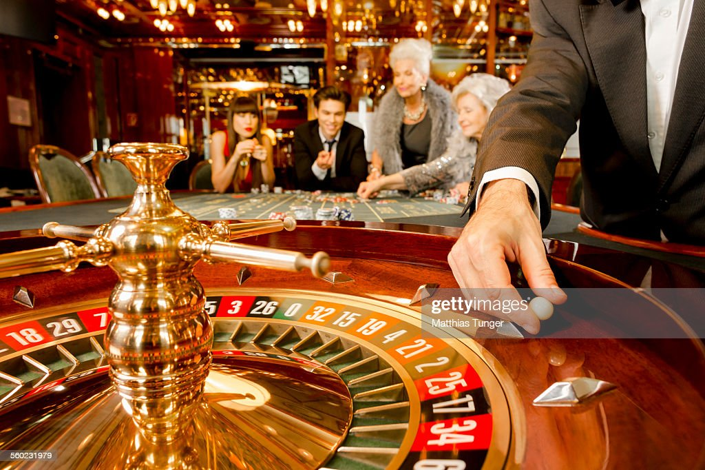 Game of luck in a casino : Stock Photo