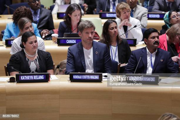 Game of Thrones actor Nikolaj CosterWaldau during a highlevel event on Financing the Future of Education at the United Nations headquarters in New...