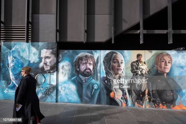 game of thrones advertisement in melbourne - game of thrones television show stock pictures, royalty-free photos & images
