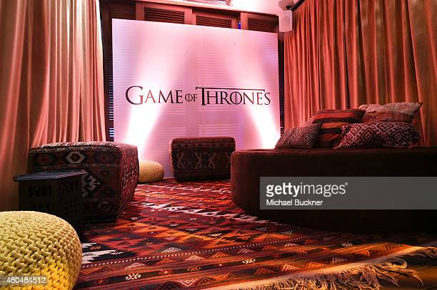 Game of Thrones booth at Entertainment Weekly's ComicCon 2015 Party sponsored by HBO Honda Bud Light Lime and Bud Light Ritas at FLOAT at The Hard...