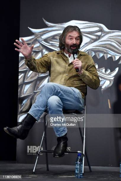 Game of Thrones cast member Ian Beattie attends the Game Of Thrones: The Touring Exhibition press conference at Titanic Exhibition Centre on April...