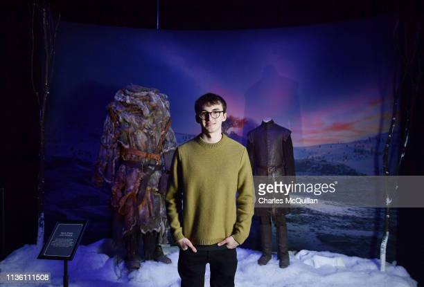 Game of Thrones cast member Isaac Hempstead Wright attends the Game Of Thrones: The Touring Exhibition launch at Titanic Exhibition Centre on April...