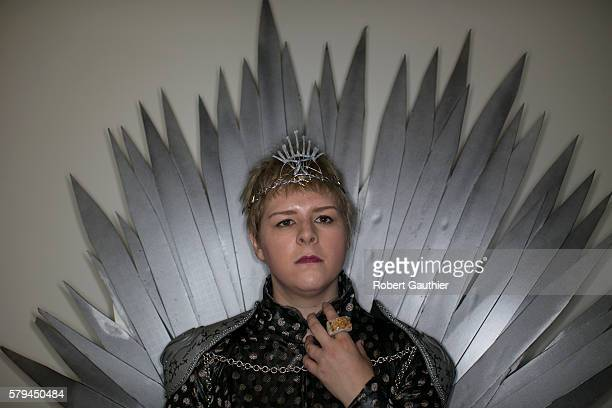 Game of Thrones cosplayer Melanie Smith poses as Cersei Lannister at Comic Con 2016