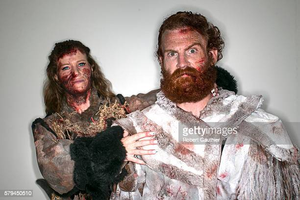 Game of Thrones cosplayers Amy Stone as Karsi and Christopher Kay as Tormund at Comic Con 2016