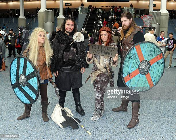 Game Of Thrones Cosplayers on day 2 of Stan Lee's Los Angeles Comic Con 2016 held at Los Angeles Convention Center on October 29 2016 in Los Angeles...