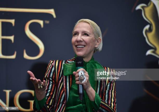 Game of Thrones costume designer Michele Clapton attends the Game Of Thrones: The Touring Exhibition press conference at Titanic Exhibition Centre on...