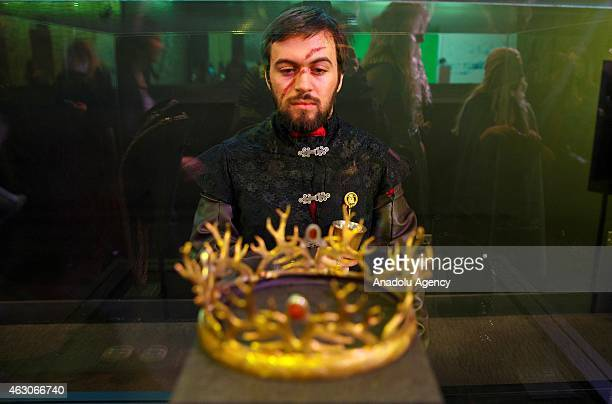 Game of Thrones fans visit 'Game of Thrones Exhibition' at the O2 in London England on February 09 2015 The exhibition showcasing a collection of 70...