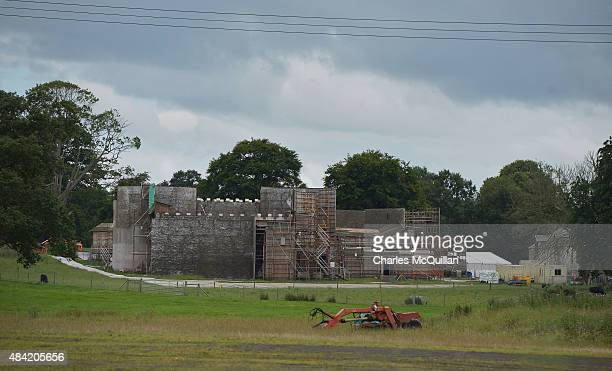 Game of Thrones film set used as a stand in for Winterfell at Moneyglass on August 13 2015 in Belfast Northern Ireland According to recent audited...