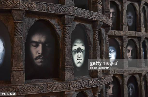 Game of Thrones Hall of Faces interactive exhibit at HBO's 'Game Of Thrones' Live Concert and QA at Hollywood Palladium on August 8 2016 in Los...