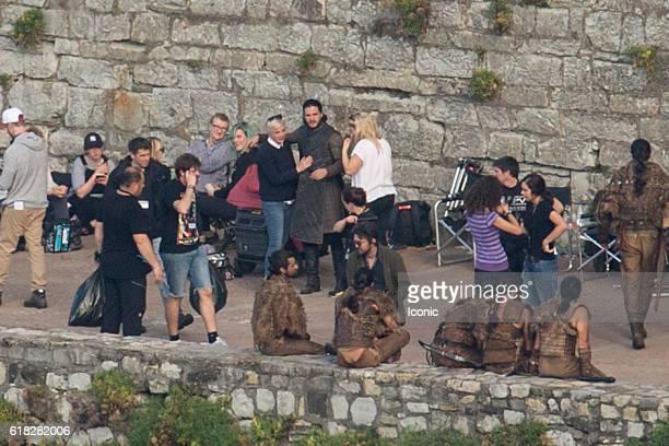 Game Of Thrones Set Filming In Zumaia Stock Fotos Und Bilder Getty