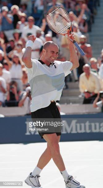 Game set match for the American Andr Agassi
