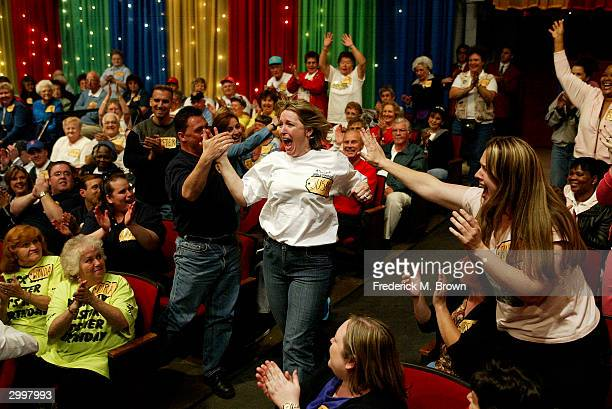 A game show contestant is chosen to play during the 6000th taping of The Price Is Right television show on February 19 2004 at CBS Television Studios...