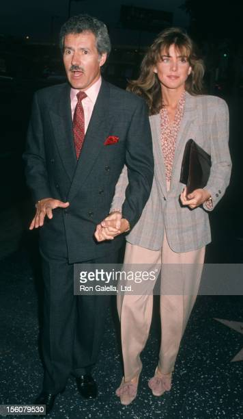 Game Show Host Alex Trebek and wife Jean Currivan attending the opening of 'Jackie Mason' on May 30 1990 at the Henry Fonda Theater in Los Angeles...