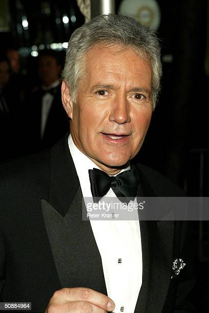 Game show host Alex Trebek arrives at the 31st Annual Daytime Emmy Awards at Radio City Music Hall May 21 2004 in New York City