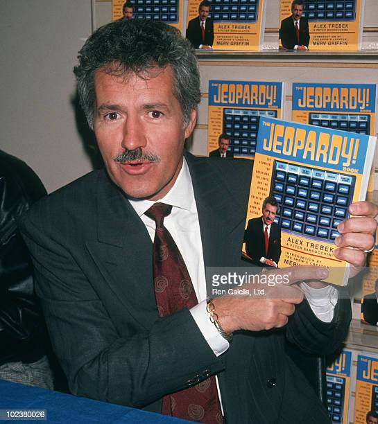 Game Show Host Alex Trebek attending Alex Trebek InStore Appearance Signing on October 25 1990 at B Dalton Book Store in New York City New York