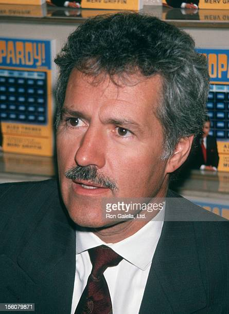Game Show Host Alex Trebek attending 'Alex Trebek In-Store Appearance Signing' on October 25, 1990 at B. Dalton Book Store in New York City, New York.