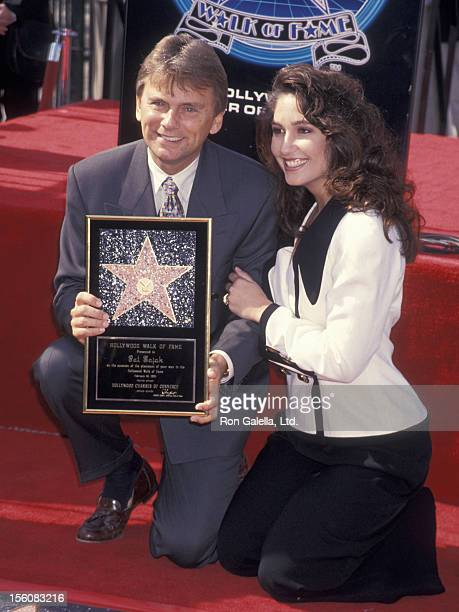 Game Show Host Pat Sajak and wife Lesly Brown attending 'Pat Sajak Receives Walk of Fame Star' on February 10 1994 at the Hollywood Walk of Fame in...